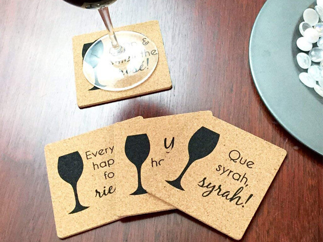 "4"" x 4"" x 3/16"" Square Cork Coaster (12 Pack)"
