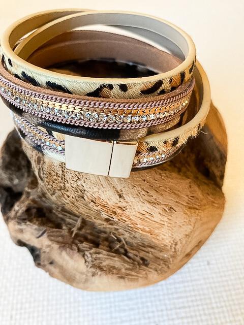 Wrap Light Color Animal Print Bracelet