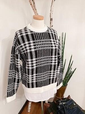 Karen Kane Plaid Sweater