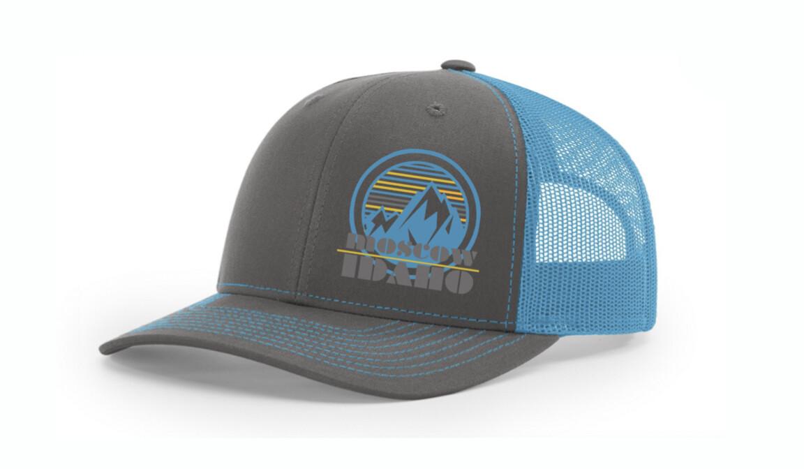 Neon Blue Moscow Idaho Hat