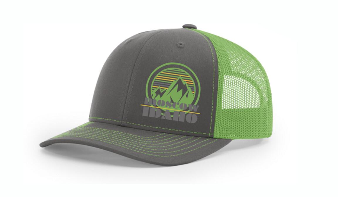 Neon Green Moscow, Idaho hat