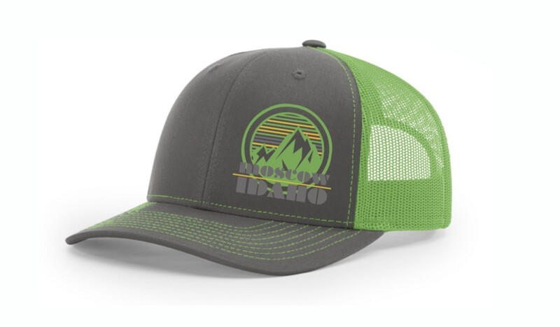 Neon Green Moscow, Idaho hat