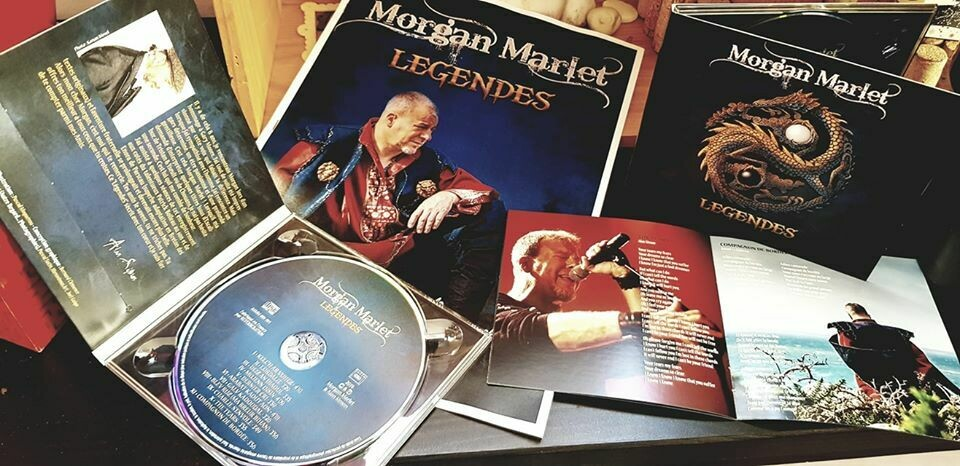 Pack CD + LP 33t vinyle LÉGENDES - Morgan Marlet