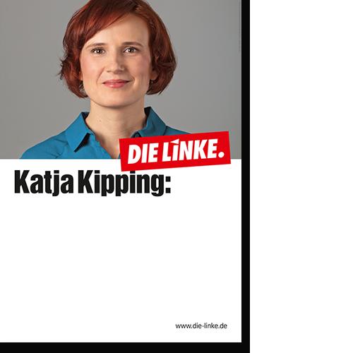 """Eindruckplakat """"Katja Kipping"""""""