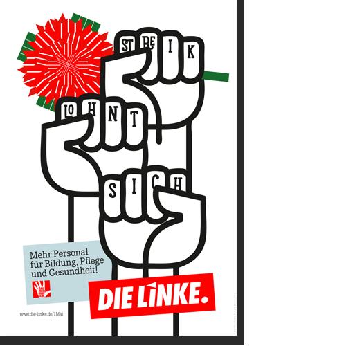 """Plakat """"1. Mai - Streik Lohnt sich"""""""