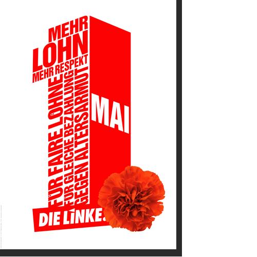 """Plakat """"1. Mai - Mehr Lohn"""""""