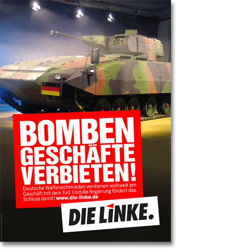 "Plakat ""Bombengeschäfte verbieten!"""