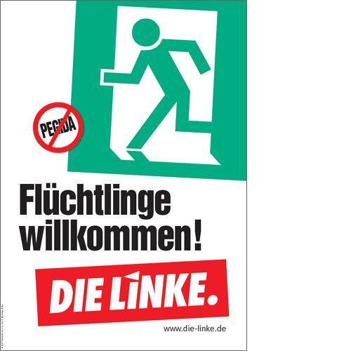 "Plakat ""Flüchtlinge willkommen!"""