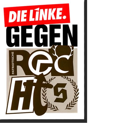 """Plakat """"Gegen Rechts"""""""