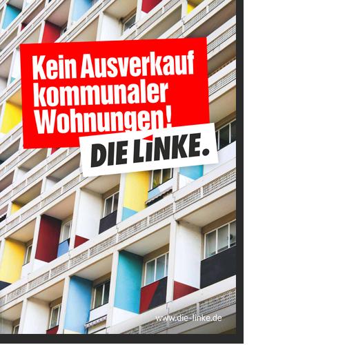 """Plakat """"Kein Ausverkauf kommunaler Wohnungen!"""""""