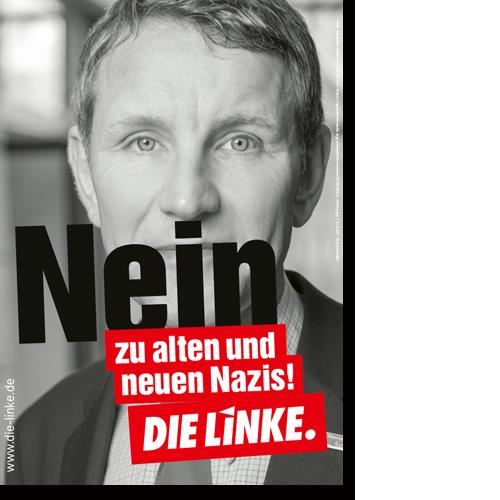 """Plakat """"Nein zu alten und zu neuen Nazis!"""""""