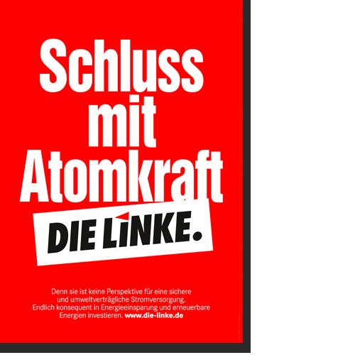 "Plakat ""Schluss mit Atomkraft!"""