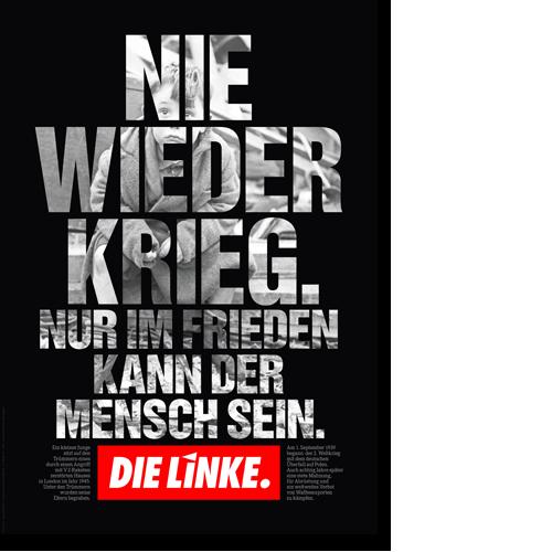 """Plakat """"Nie wieder Krieg"""""""