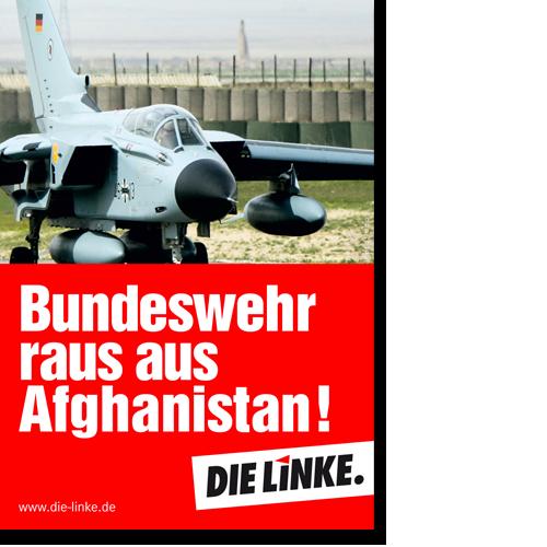 "Aufkleber ""Bundeswehr raus aus Afghanistan! """