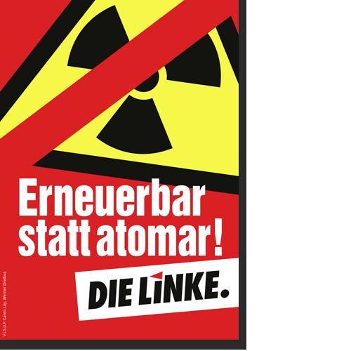 "Aufkleber ""Erneuerbar statt atomar!"""