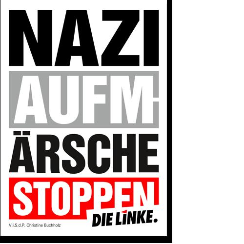 """Aufkleber """"Naziaufmärsche stoppen"""""""