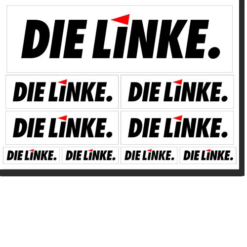 """Aufkleber-Set """"DIE LINKE."""""""