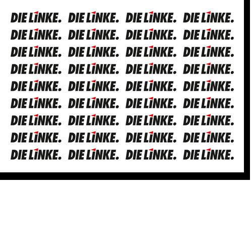 """Aufkleber-Set PVC, """"DIE LINKE."""""""