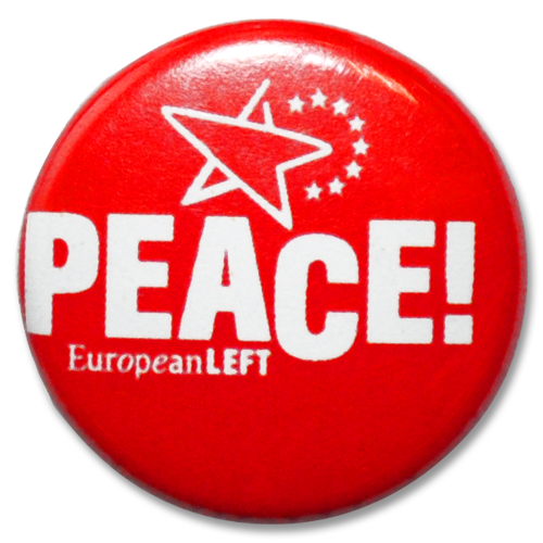 "Button European Left ""Peace!"""