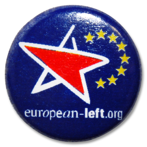 Button European Left (blau)