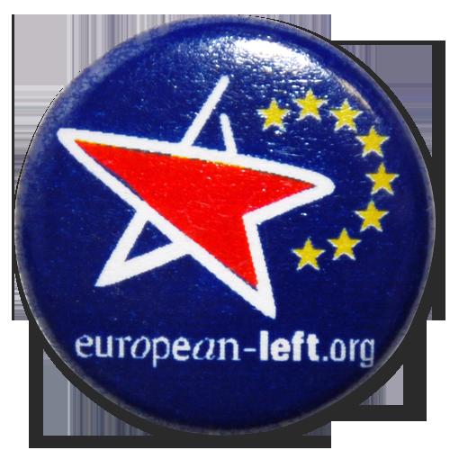 Button European Left (blau)
