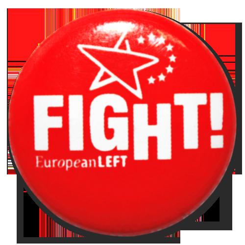"Button European Left ""Fight!"""