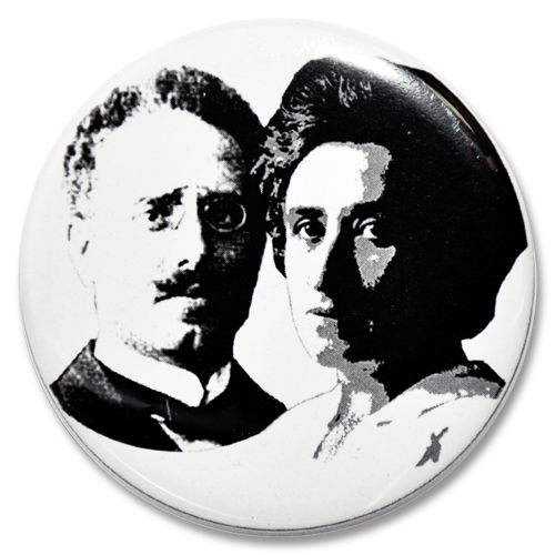 """Button """"Karl Liebknecht und Rosa Luxemburg"""""""