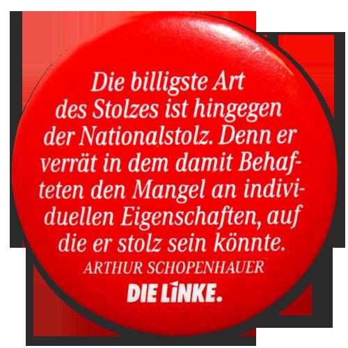"""Button """"Schopenhauer-Text"""""""
