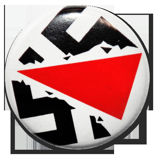 "Button ""Zerbrochenes Hakenkreuz"""