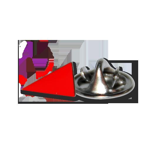 """Pin """"Rotes Dreieck"""""""