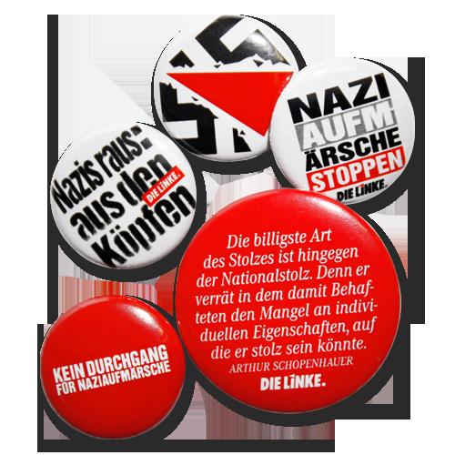 """Button-Mix """"Gegen Nazis"""""""