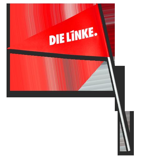 """Papierfähnchen """"DIE LINKE."""""""