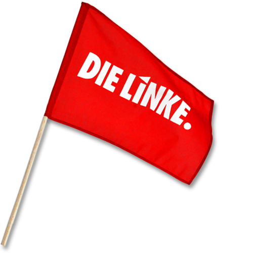 "Schwenkfahne ""DIE LINKE."" klein"