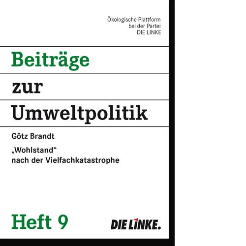 """Broschüre """"Beiträge zur Umweltpolitik"""" Heft 9"""