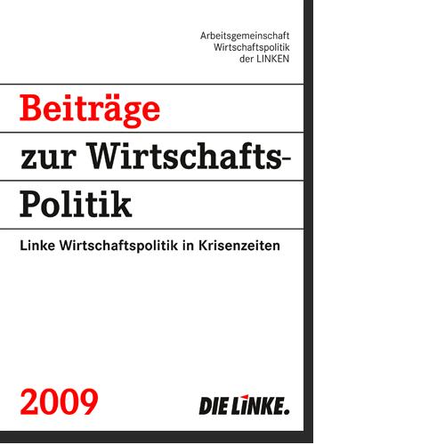 """Broschüre """"Beiträge zur Wirtschaftspolitik"""" 2009"""