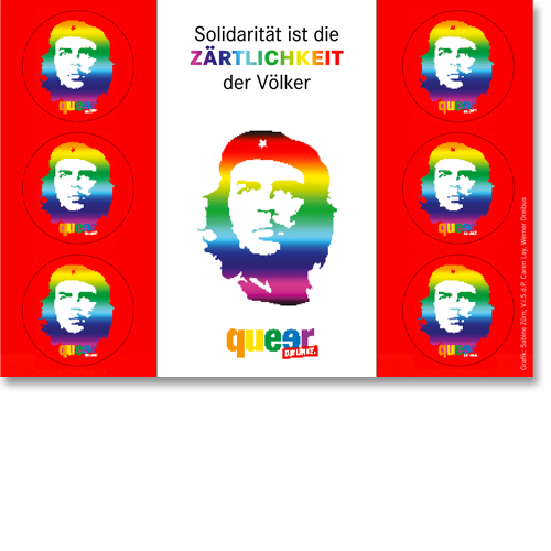 "Postkarte ""Queer mit Che"""