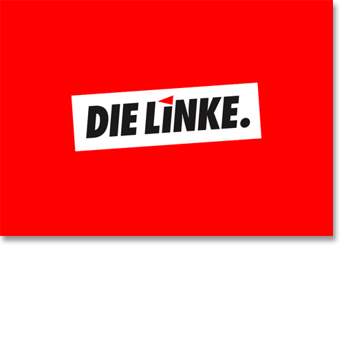 "Moderationskarte ""DIE LINKE."""