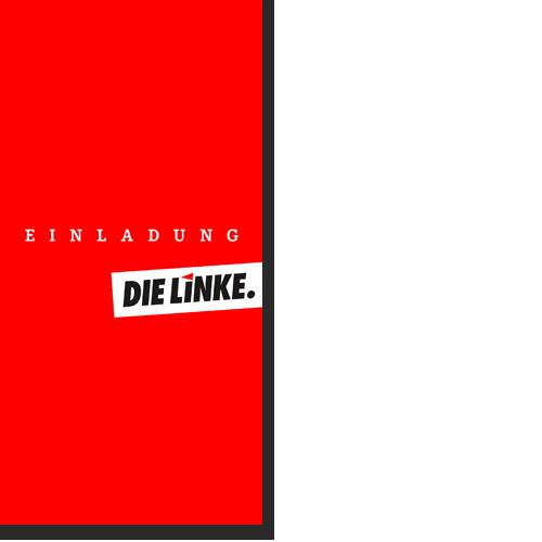 """Einladungskarte """"DIE LINKE."""""""