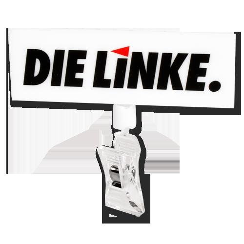 """Mikrofonspatz """"DIE LINKE."""""""