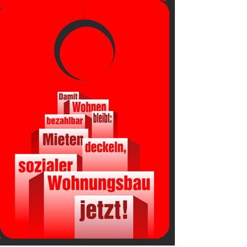 """Türanhänger """"Damit wohnen bezahlbar bleibt!"""""""
