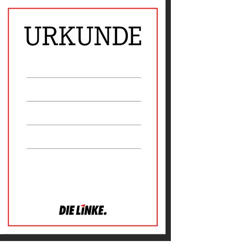 "Urkunde ""DIE LINKE."""