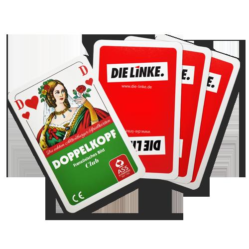 "Kartenspiel Doppelkopf ""DIE LINKE."""