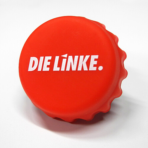 """Kronkorken Silikon """"DIE LINKE."""""""