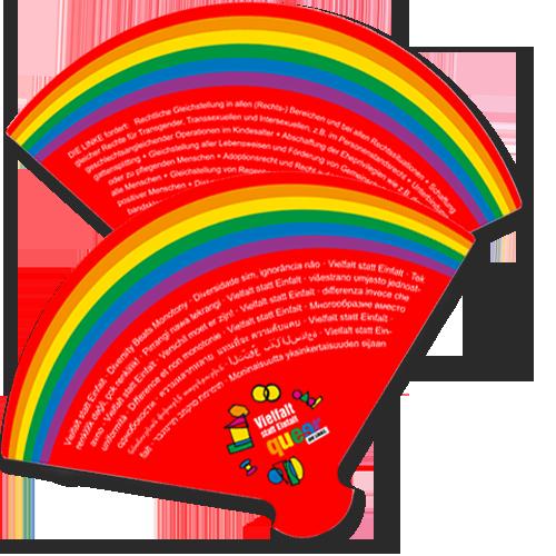 "Papierfächer ""queer"""