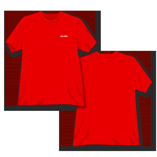"""T-Shirt Bio-Baumwolle """"DIE LINKE."""" rot"""
