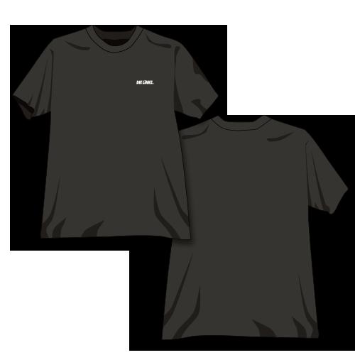 """T-Shirt Bio-Baumwolle """"DIE LINKE."""" schwarz"""