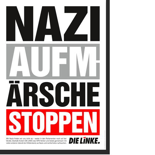 """Plakat """"Naziaufmärsche stoppen"""""""