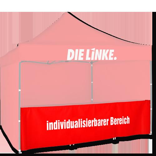 Zeltschürze für rotes Zelt