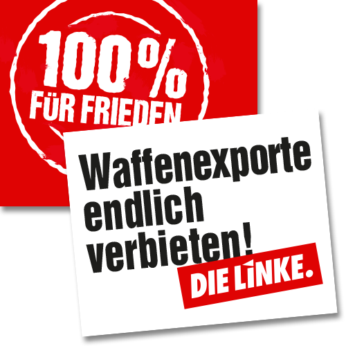 """Hochhalteplakat """"Waffenexporte endlich verbieten!"""""""