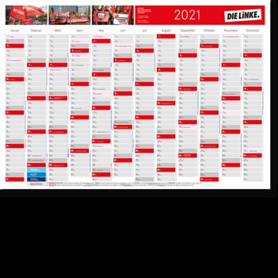 Wandkalender 2021 mit Terminaufklebern